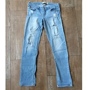 Distressed Light Blue Jeans By Hollister Co